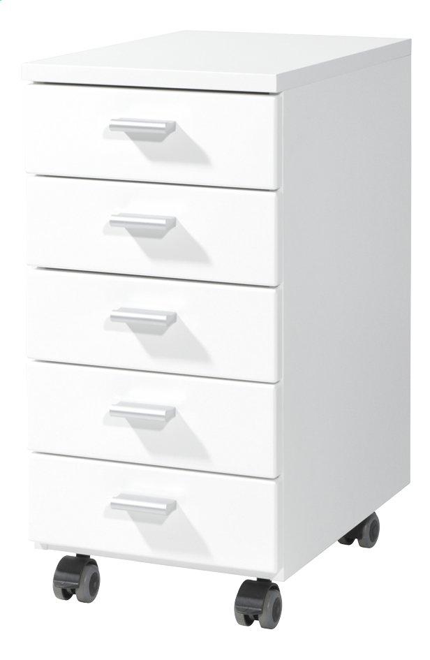 Germania Bloc-tiroirs à 5 tiroirs décor blanc