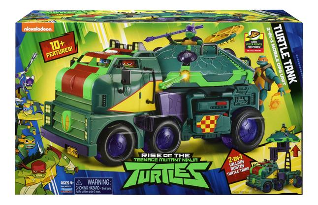 Les Tortues Ninja Turtle Tank 2-in-1 Mobile Ops Unit