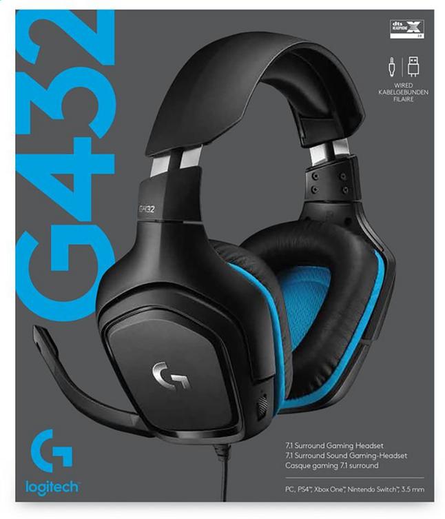 Afbeelding van Logitech headset G432 Wired from ColliShop