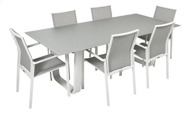 Image pour Ocean Ensemble de jardin Luca/Calvin avec verre gris clair/blanc à partir de ColliShop