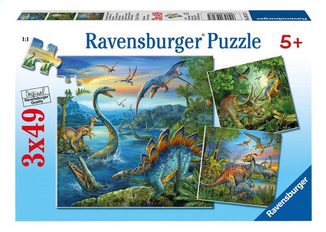 Image pour Ravensburger puzzle 3 en 1 La fascination des dinosaures à partir de ColliShop