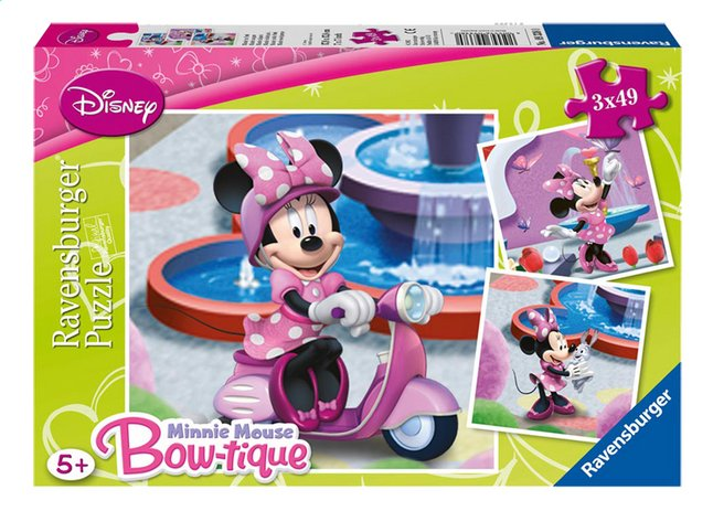 Afbeelding van Ravensburger 3-in-1 puzzel Minnie in het park from ColliShop