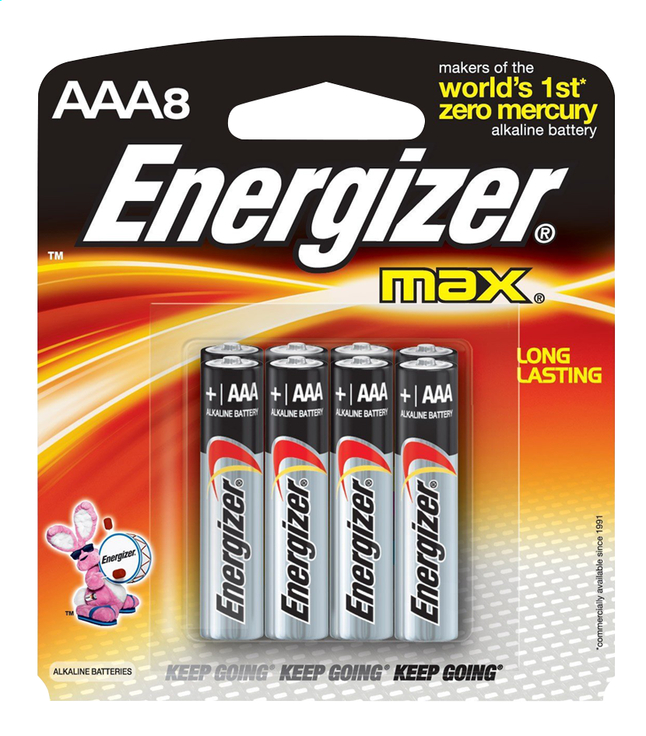 Afbeelding van Energizer Max AAA-batterijen - 8 stuks from ColliShop
