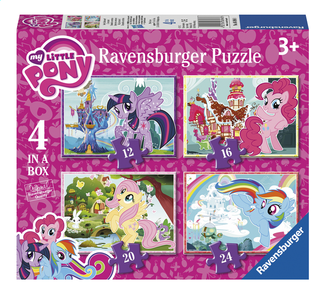Image pour Ravensburger puzzle 4 en 1 Mon Petit Poney à partir de ColliShop