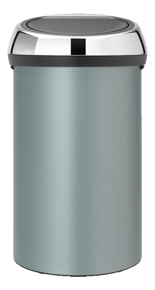 brabantia poubelle touch bin metallic mint 60 l collishop. Black Bedroom Furniture Sets. Home Design Ideas