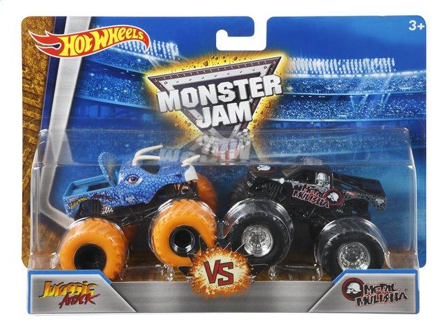 Afbeelding van Hot Wheels Monster Truck Demolition Doubles Jurassic Attack VS Metal Mulisha from ColliShop