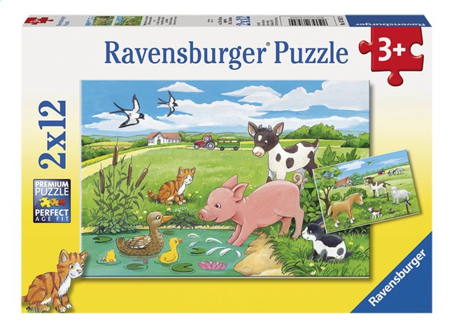 Image pour Ravensburger puzzle 2 en 1 Bébés animaux de la terre à partir de ColliShop