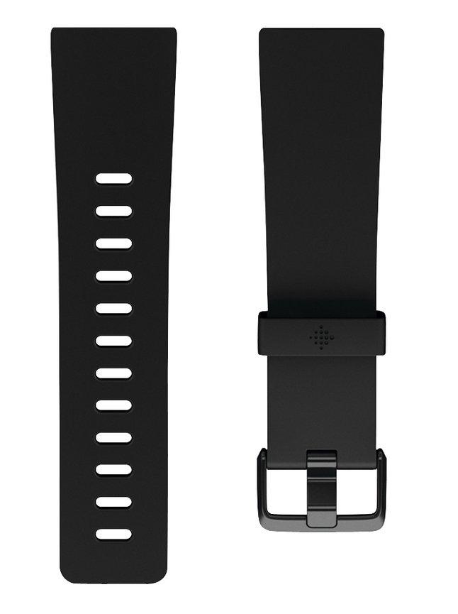 Fitbit vervangband Versa2 klassiek S zwart