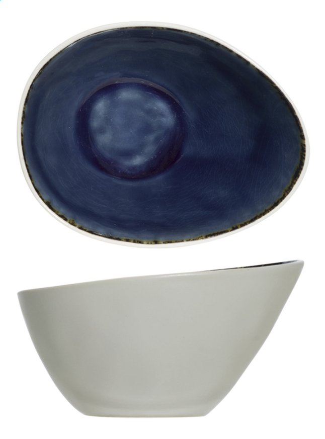 Cosy & Trendy 6 ovale kommetjes Spirit Blue L 15 x B 11,5 cm