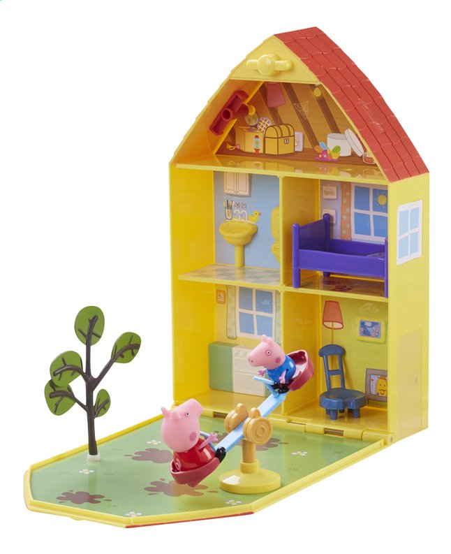 peppa pig la maison de peppa avec jardin collishop. Black Bedroom Furniture Sets. Home Design Ideas