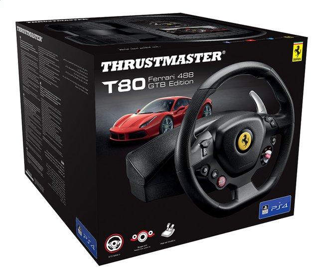 Afbeelding van PS4 Thrustmaster stuurwiel met pedalen T80 Ferrari 488 GTB Edition zwart from ColliShop