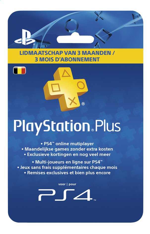 Afbeelding van PlayStation Plus Network Card 3 maanden from ColliShop