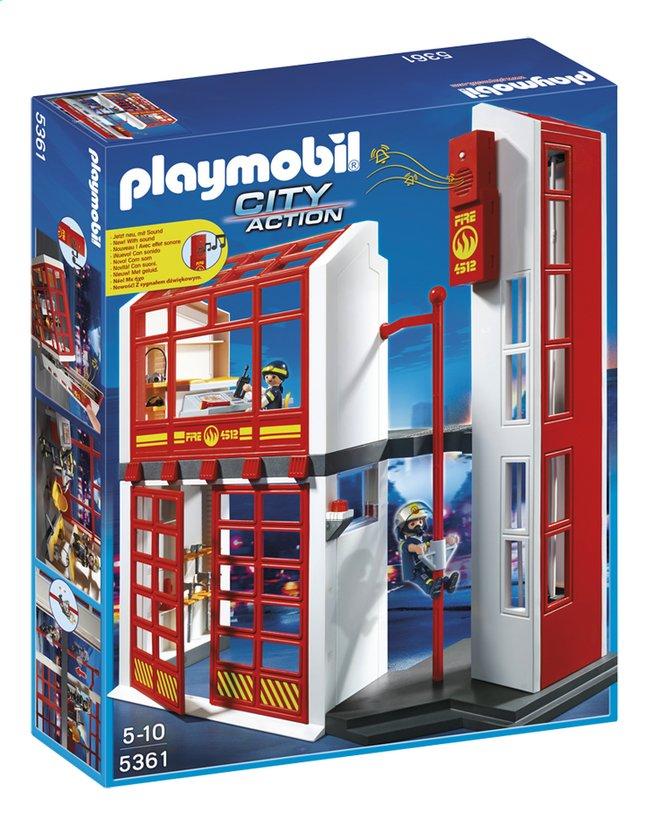 Image pour Playmobil City Action 5361 Caserne des pompiers avec alarme à partir de ColliShop