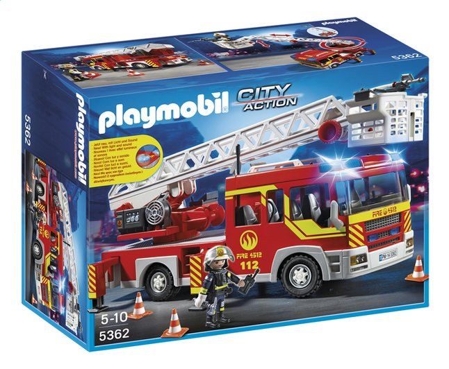 Afbeelding van Playmobil City Action 5362 Brandweer ladderwagen met licht en sirene from ColliShop
