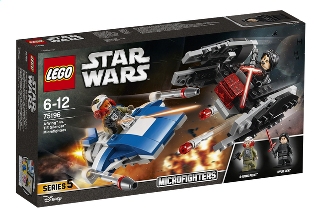 Afbeelding van LEGO Star Wars 75196 A-Wing vs TIE Silencer microfighters from ColliShop