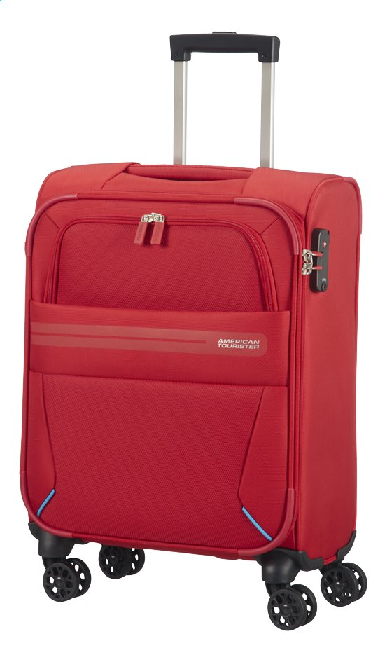 Afbeelding van American Tourister Zachte reistrolley Summer Voyager Spinner ribbon red 55 cm from ColliShop