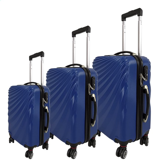Image pour Beverly Hills Polo Club set de 3 valises rigides bleu à partir de ColliShop