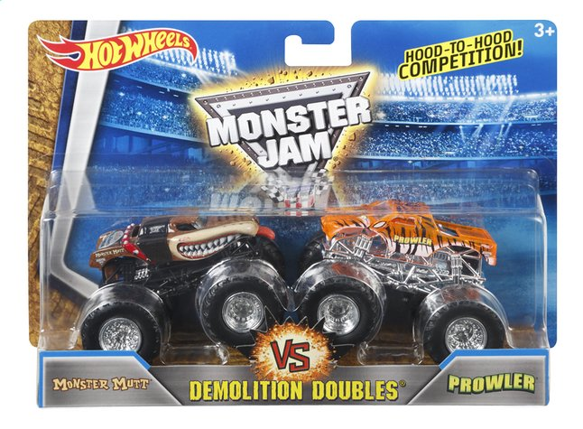 Afbeelding van Hot Wheels Monster Truck Demolition Doubles Monster Mutt VS Prowler from ColliShop