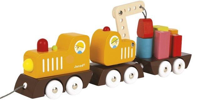 Image pour Janod Train grue en bois à partir de ColliShop