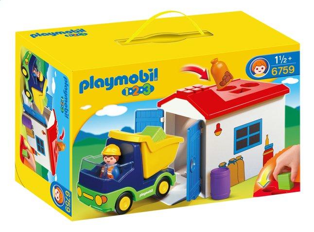 Afbeelding van Playmobil 1.2.3 6759 Vrachtwagen met garage from ColliShop