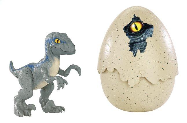 Jurassic World figuur Hatch 'n Play Dinos Velociraptor Blue
