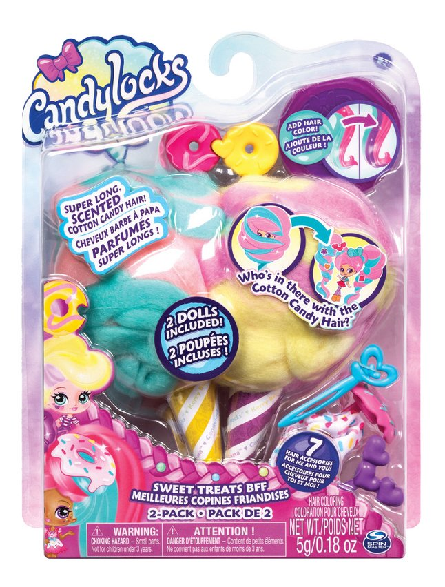 Afbeelding van Candylocks Sweet Treats BFF Jilly Jelly & Donna Nut - 7 cm from ColliShop