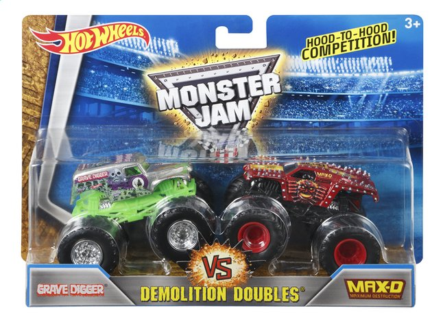 Image pour Hot Wheels Monster Truck Demolition Doubles Grave Digger VS Max-D à partir de ColliShop