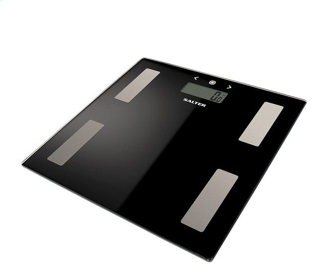 Afbeelding van Salter personenweegschaal/vetmeter Ultra Slim 9150BK3R zwart from ColliShop