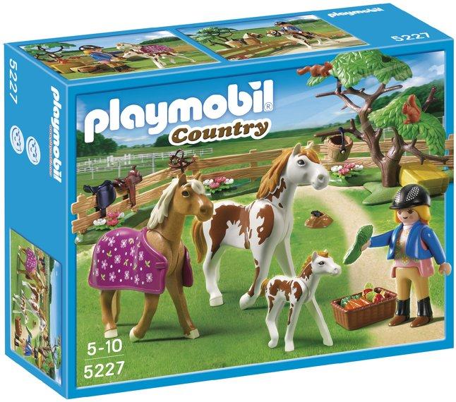 Afbeelding van Playmobil Country 5227 Paddock met paardenfamilie from ColliShop