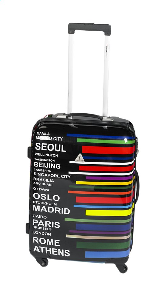 Image pour Transworld Valise rigide Worldcities Spinner 58 cm à partir de ColliShop