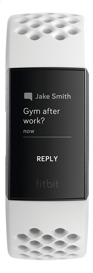Fitbit activiteitsmeter Charge 3 HR aluminium/wit