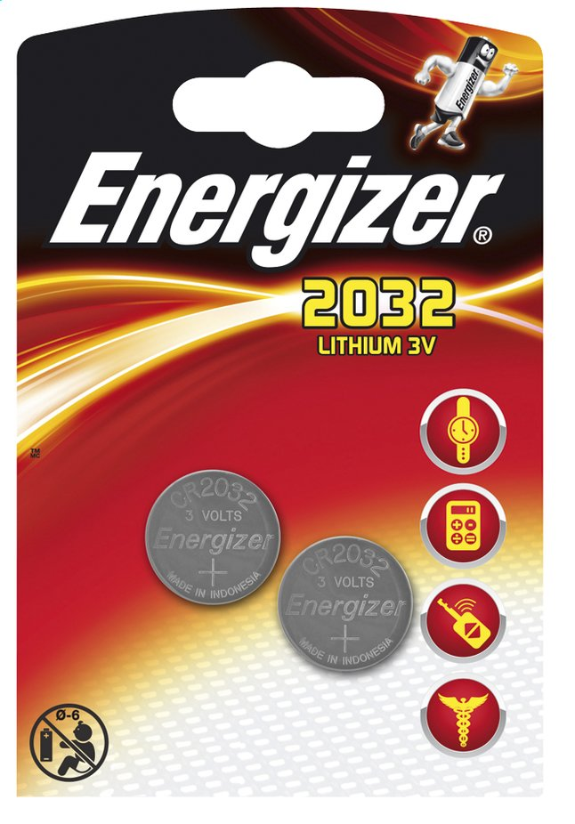Afbeelding van Energizer 2 CR2032-knopcelbatterijen from ColliShop