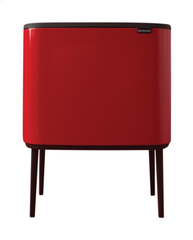 Afbeelding van Brabantia Afvalemmer Touch Bin Bo passion red 11 l + 23 l from ColliShop