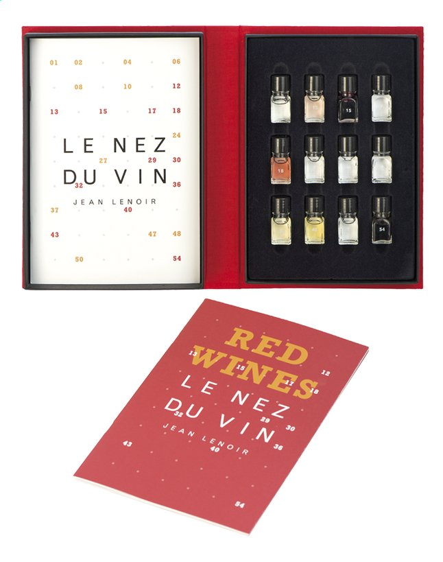 Afbeelding van Box Le Nez du Vin : Les vins rouges, 12 arômes ENG from ColliShop