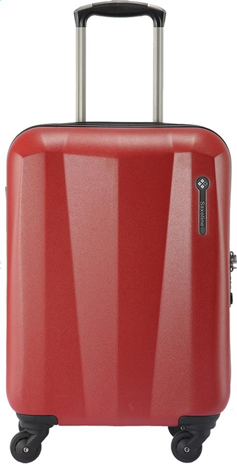 Image pour Saxoline Valise rigide Milan Spinner rouge 68 cm à partir de ColliShop