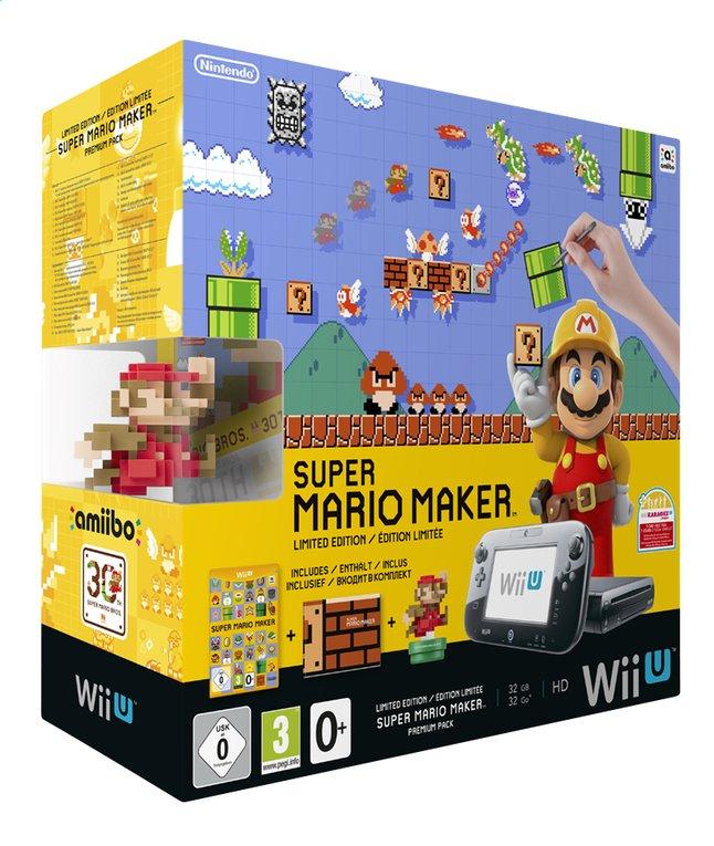 Image pour Wii U console Premium Pack 32 Go noir + Super Mario Maker FR/NL à partir de ColliShop