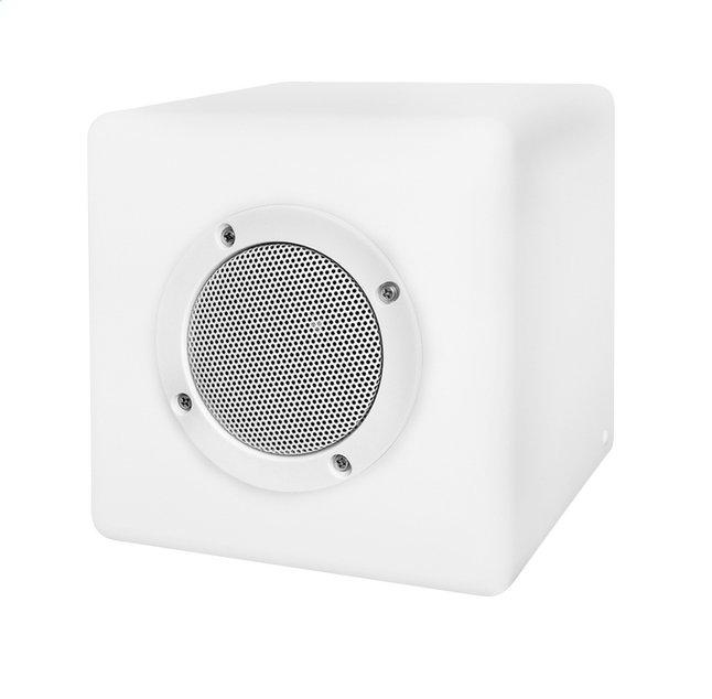 Image pour Smooz Lampe de table avec haut-parleur Cube blanc 15 cm à partir de ColliShop