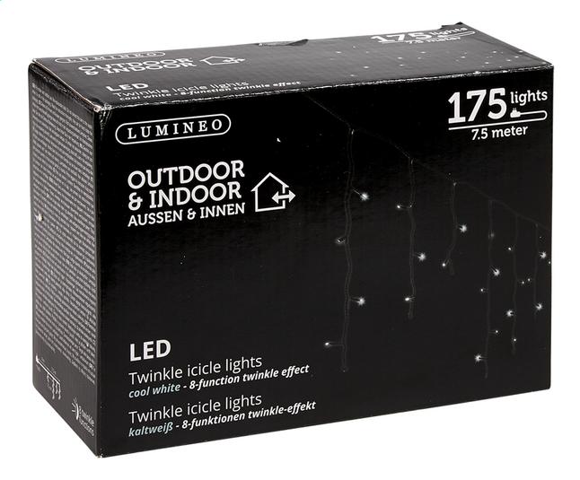 guirlande lumineuse led stalactites 175 lampes blanc froid cordon noir collishop. Black Bedroom Furniture Sets. Home Design Ideas