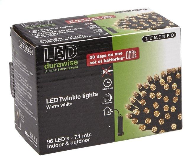 Lumineo slingerverlichting led 96 lampjes warm wit