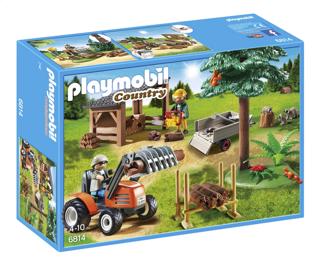 Afbeelding van Playmobil Country 6814 Houthakker met tractor from ColliShop
