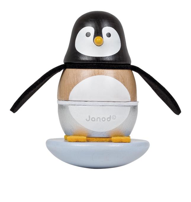 Image pour Janod anneaux à empiler/culbuto Pingouin Zigolos en bois à partir de ColliShop