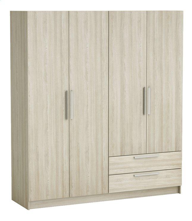 Image pour Demeyere Meubles Garde-robe 4 portes et 2 tiroirs Glory décor chêne shannon à partir de ColliShop