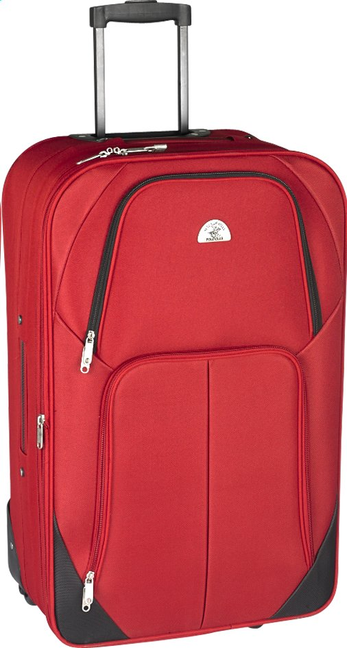 Image pour Beverly Hills Polo Club Valise souple Let's Go Upright rouge 66 cm à partir de ColliShop