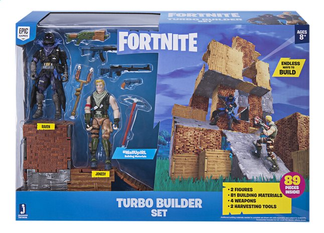 Fortnite Turbo Builder set met Jonesy en Raven