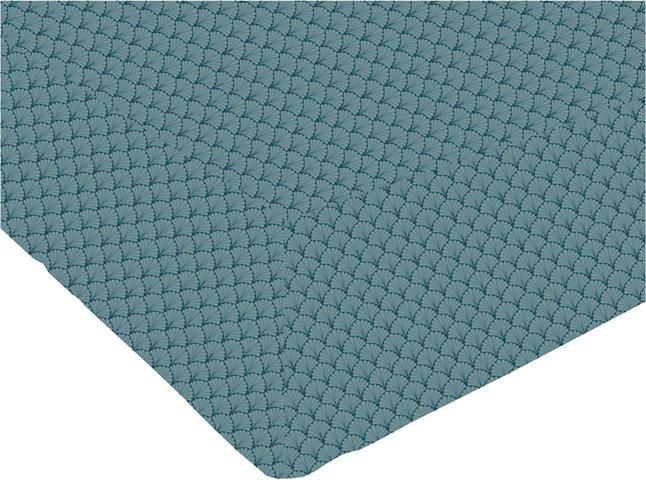 Image pour Origin Drap-housse Camille émeraude turquoise bambou/coton 140 x 200 cm à partir de ColliShop