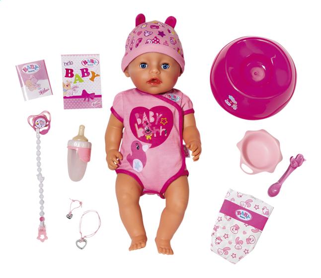 BABY born poupée interactive Soft touch Fille rose 43 cm