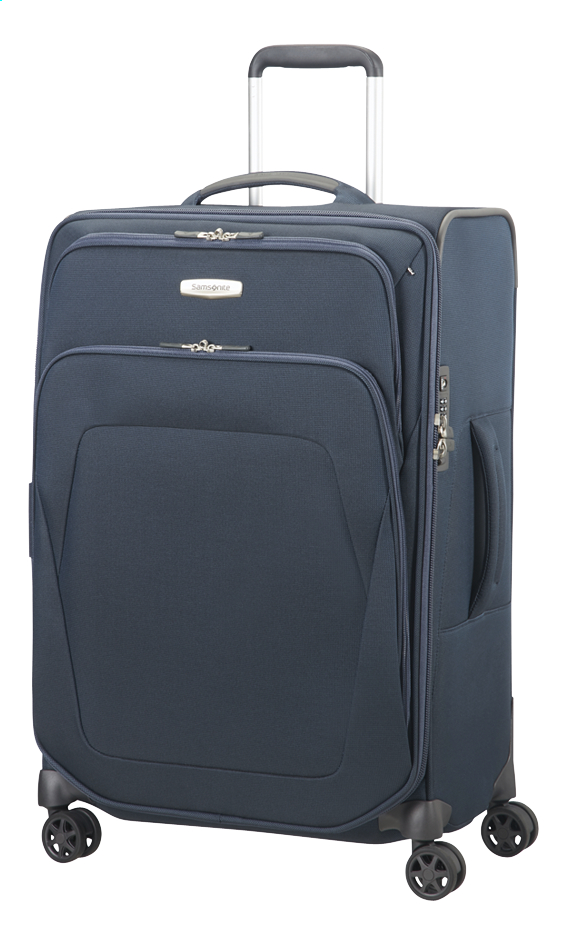 samsonite valise souple spark sng spinner blue exp 67 cm. Black Bedroom Furniture Sets. Home Design Ideas