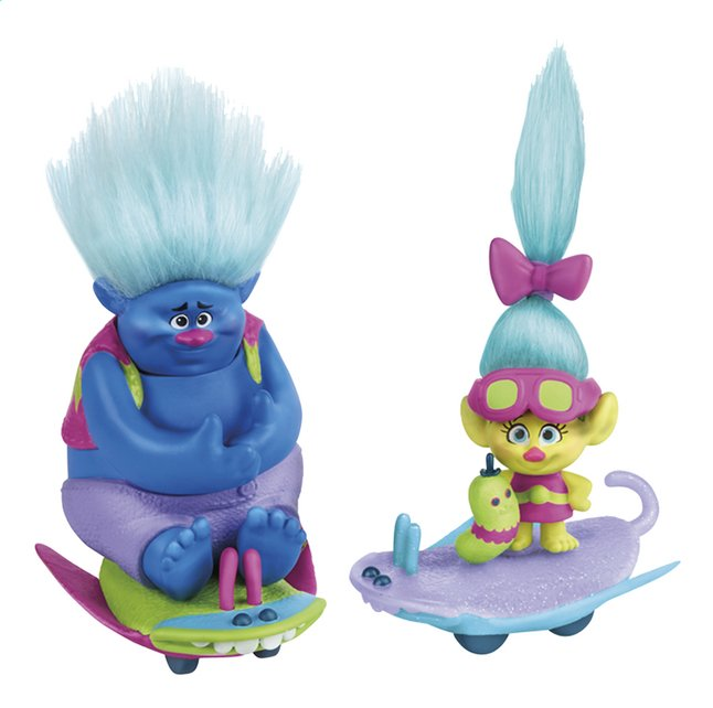 Image pour Trolls set de jeu 2 figurines avec skate-boards à partir de ColliShop