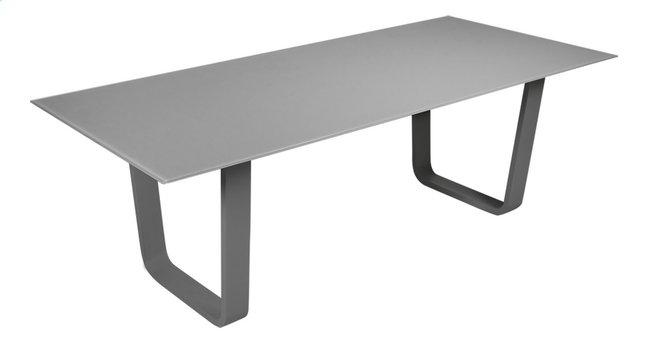 Image pour Ocean Table de jardin Luca avec plateau en verre gris foncé/antracite L 220 x Lg 100 cm à partir de ColliShop