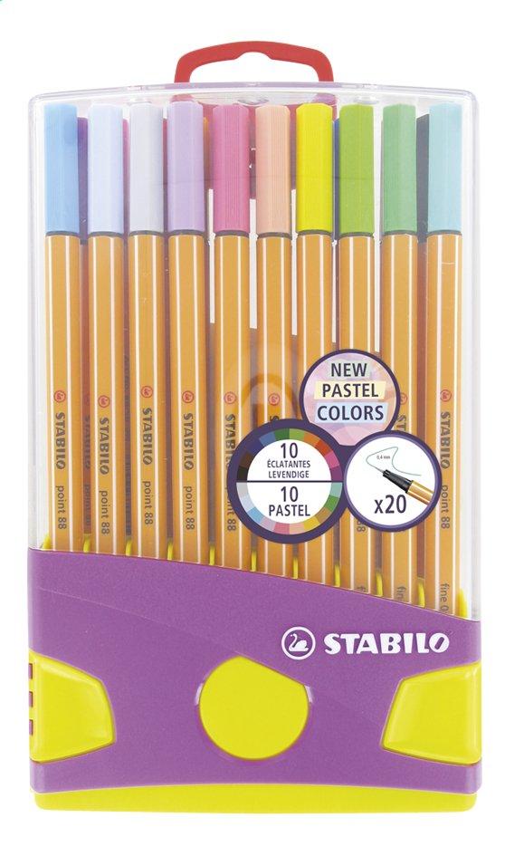 STABILO viltstift Point 88 Pastel - 20 stuks